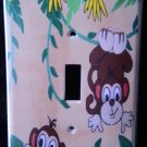 MONKEYS LIGHT SWITCH COVER Playful Monkeys Decoration