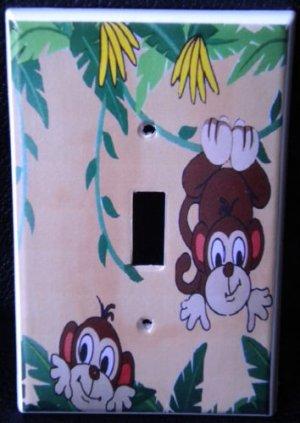 MONKEYS LIGHT SWITCH COVER Playful Monkeys Decoration