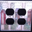 Linda Spivey OUTHOUSES DOUBLE OUTLET COVER Decor