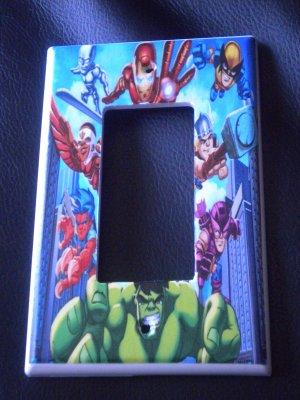 MARVEL SUPER HERO SQUAD GFI OUTLET  Rocker Light Switch