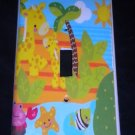 Fisher Price PRECIOUS PLANET LIGHT SWITCH plate GIRAFFES single switch plate