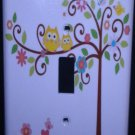 Dena HAPPI TREE LIGHT SWITCH plate Owls single switch plate Kids Line Happi Tree