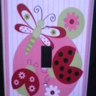 Sweetie Pie LADYBUG LIGHT SWITCH plate Ladybug single switch plate Lambs & Ivy