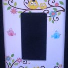 Dena HAPPI TREE GFI Outlet / Rocker LIGHT SWITCH plate Owls GFI Kidsline CUTE!