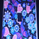BUTTERFLIES, Hearts, & Flowers LIGHT SWITCH COVER Beautiful Purple & Pink