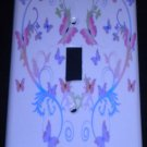 PINK & PURPLE BUTTERFLIES LIGHT SWITCH COVER switch plate Butterfly Heart Decor