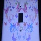 PINK & PURPLE BUTTERFLIES LIGHT SWITCH COVER switch plate Butterfly Heart Decor