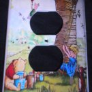 CLASSIC POOH OUTLET COVER Winnie the Pooh Storybook scene Christopher Robin