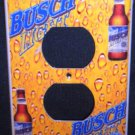 BUSCH LIGHT BEER OUTLET PLATE COVER  Unique LOOK! NEW Electrical outlet cover