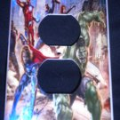 MARVEL AVENGERS OUTLET COVER Avengers Movie Action Scene Outlet Plate Cover