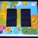 Fisher Price PRECIOUS PLANET  DOUBLE rocker SWITCH plate / GFI outlet Giraffe
