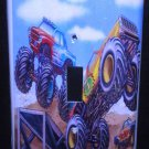MONSTER TRUCKS LIGHT SWITCH COVER LOOK Single switch plate Kids room decor