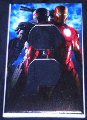 MARVEL IRON MAN & WAR MACHINE OUTLET COVER Room decor Outlet plate cover