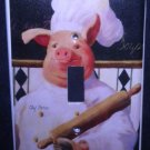French PIG CHEF LIGHT SWITCH COVER Kitchen Decor switch plate