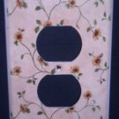 SUNFLOWER vines OUTLET PLATE COVER Single outlet plate Room decor accent