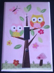 Circo LOVE and NATURE OWL LIGHT SWITCH plate Owls in a tree single switch plate
