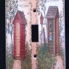 Linda Spivey OUTHOUSES LIGHT SWITCH COVER Bathroom Decor Single Switch Plate
