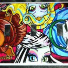 MONSTER HIGH TRIPLE LIGHT SWITCH COVER Girls Room Decor Triple Switch Plate