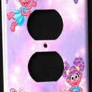 ABBY CADABBY OUTLET Plate COVER Sesame Street ADORABLE! Pink & Purple