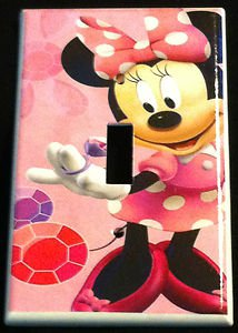 Minnie Mouse Light Switch Cover Pink Minnie W Pink