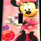 MINNIE MOUSE LIGHT SWITCH COVER Pink Minnie w/ Pink & Purple Jewels Switch plate