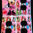 MINNIE MOUSE Light Switch and Outlet Covers PINK Minnie Mouse CUTE room decor