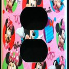MINNIE MOUSE OUTLET COVER Pink Minnie Mouse Colorful Outlet Plate Cover