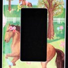 Circo PRETTY HORSES Rocker LIGHT SWITCH plate / GFI Outlet Horses Adorable!