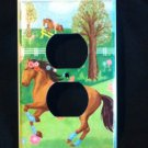 Circo PRETTY HORSES OUTLET plate Cover Horses Nursery Decor  Adorable!