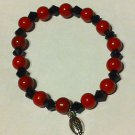 Handmade ATLANTA FALCONS Football Team Colors BRACELET Pearl & Crystal