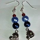Handmade TENNESSEE TITANS Football Team Colors Dangle EARRINGS football helmets