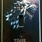 GAME of THRONES House STARK LIGHT SWITCH COVER Single Switch Plate faceplate