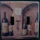 WINE BOTTLES DOUBLE LIGHT SWITCH COVER Beautiful Room Decor