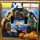MONSTER JAM MONSTER TRUCKS DOUBLE LIGHT SWITCH COVER Grave Digger & Max D
