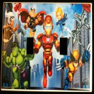 MARVEL SUPER HERO SQUAD DOUBLE LIGHT SWITCH COVER Look! Cool!