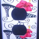 ZEBRA HIGH HEEL Hot PINK Flower OUTLET PLATE COVER Beautiful room decor