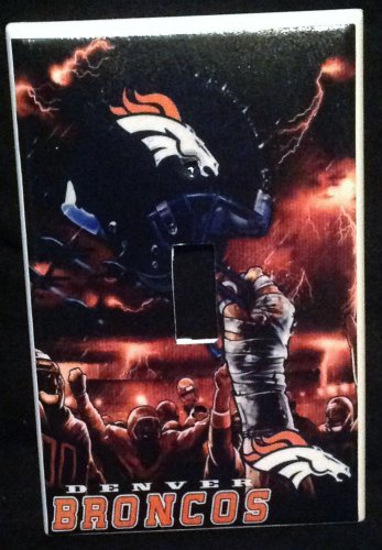Denver BRONCOS LIGHT SWITCH COVER *Great Gift FOOTBALL single switch plate
