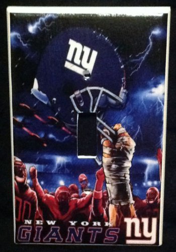 New York GIANTS LIGHT SWITCH COVER *Great Gift FOOTBALL single switch plate