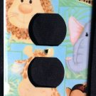 JUNGLE BABIES OUTLET COVER Lion Giraffe Monkey ADORABLE Patty Reed Outlet plate