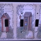 Linda Spivey OUTHOUSES TRIPLE LIGHT SWITCH COVER decor