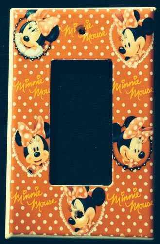 MINNIE MOUSE Rocker LIGHT SWITCH GFI outlet COVER Red with flowers Decora Switch