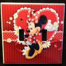 MINNIE MOUSE DOUBLE LIGHT SWITCH COVER Red with flowers Double switch plate