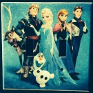 Disney FROZEN DOUBLE LIGHT SWITCH COVER Elsa Anna Olaf Sven Double Switch Plate