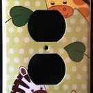 Jungle Safari Animals OUTLET plate Zebra & Giraffe outlet plate cover CUTE