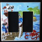 Circo PIRATES Double Rocker LIGHT SWITCH plate / GFI Outlet Pirates CUTE! Decora