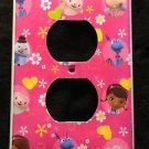 DOC MCSTUFFINS OUTLET COVER Lambie Hallie Stuffy Chilly outlet plate cover Pink