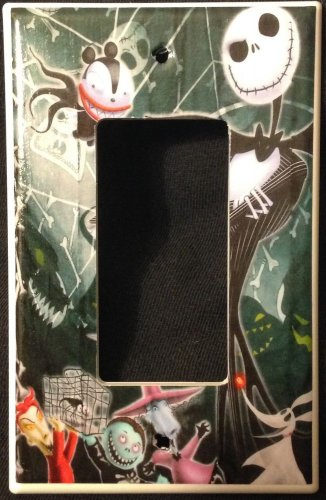 NIGHTMARE BEFORE CHRISTMAS Decora LIGHT SWITCH PLATE GFI outlet Jack Skellington