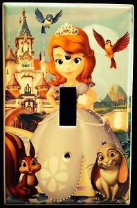 SOFIA the First LIGHT SWITCH COVER PRINCESS Sofia & friends Single Switch plate