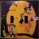 Disney MINNIE & MICKEY Halloween DOUBLE LIGHT SWITCH COVER Mickey & Friends