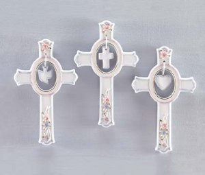 Porcelain Wall Crosses (Item # 32199)
